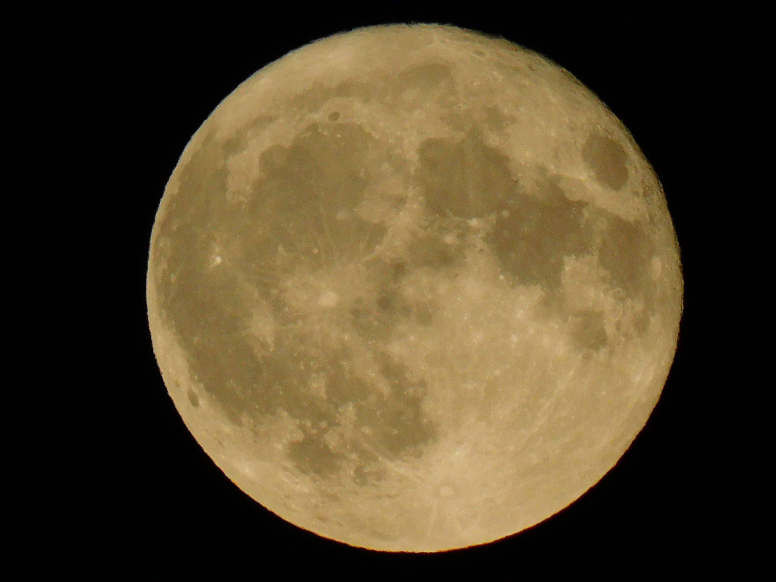 Photo d'une lune rousse